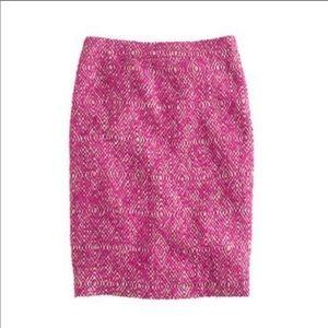 J.Crew No. 2 Pencil Skirt Corkscrew Pink Size 8
